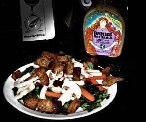 I made a salad while I waited
