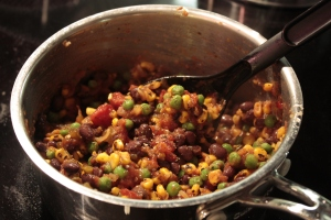 Pan full of succotash